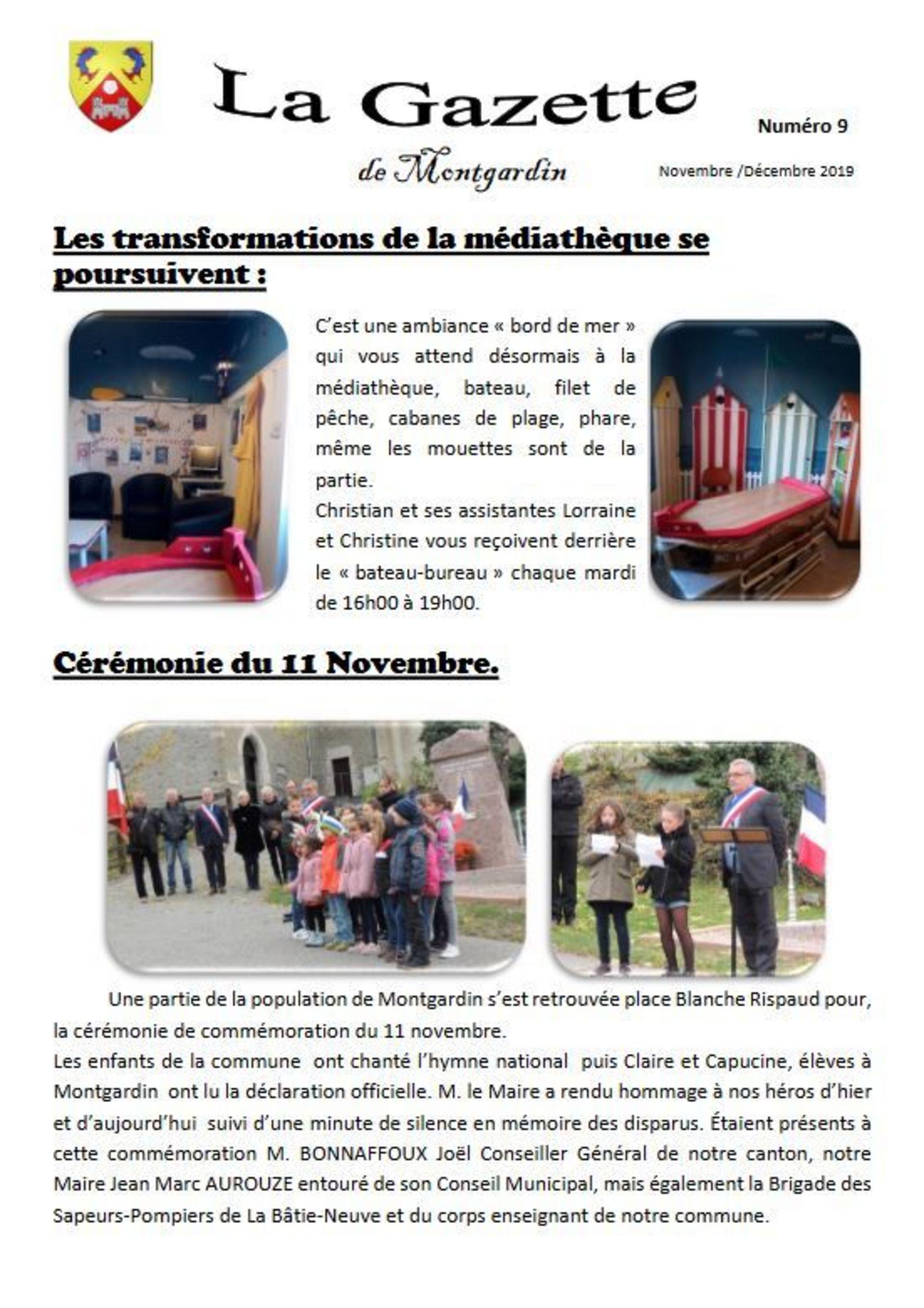 Gazette n°9 - 2019